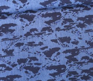Stoff - Malerei - Painting - grafisch - Little Darling - Jeansblau