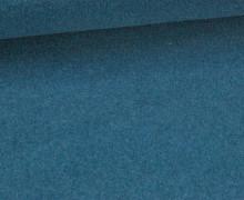 Wolle - Walkstoff - Uni - Blau