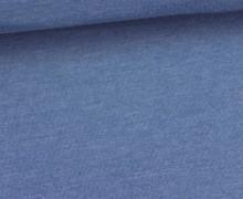 Jersey - Uni - Hochwertig - 150cm - Taubenblau Meliert