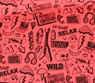 Jersey - Neon Rock and Roll - Gitarre -  Neonpink