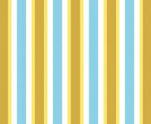Baumwoll Satin - Streifen - Stripes - High Five - Türkis/Senfgelb - Hamburger Liebe