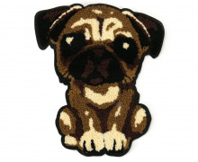 1 Aufnäher - Patch - Flausch - 20cm x 23cm - Hund - Dog - Fancy Friends - Braun