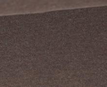 Organic Cotton Interlock Baumwolljersey - Uni - 145cm - Dunkelbraun