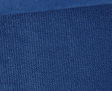 Möbel / Deko Velours mit leichter Cordoptik - Uni - Dunkelblau