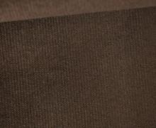 Möbel / Deko Velours mit leichter Cordoptik - Uni - Dunkelbraun