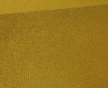 Möbel / Deko Velours mit leichter Cordoptik - Uni - Ocker