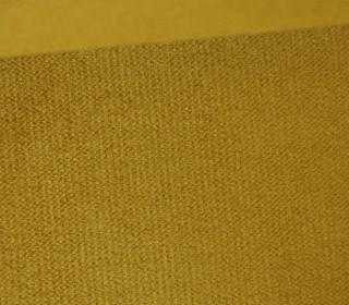 Möbel und Taschenstoff - Samt Velours Uni - Polsterstoff - Ocker