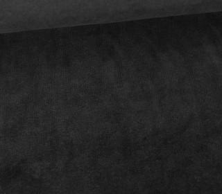 Möbel / Deko Velours mit leichter Cordoptik - Uni - Schwarz