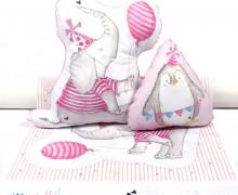 Kissenstoff - DIY - Partyfreunde - Elefant - Pinguin - Treeebird - abby and me