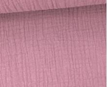 Musselin Lotta - Muslin - Uni - Double Gauze - 130gr - Schnuffeltuch - Windeltuch - Altrosa Dunkel