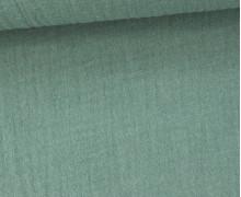 Musselin Lotta - Muslin - Uni - Double Gauze - 130gr - Schnuffeltuch - Windeltuch - Meergrün