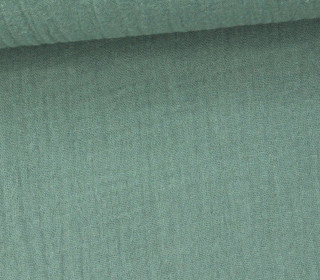 Musselin Lotta - Muslin - Double Gauze - 130gr - Schnuffeltuch - Windeltuch - Meergrün