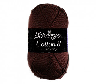 Strickgarn - Scheepjes Cotton 8 - 170m - Baumwolle - Schokobraun (657)