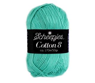 Strickgarn - Scheepjes Cotton 8 - 170m - Baumwolle - Türkis (665)