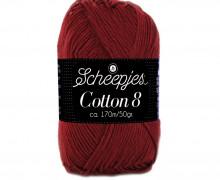 Strickgarn - Scheepjes Cotton 8 - 170m - Baumwolle - Bordeaux (717)