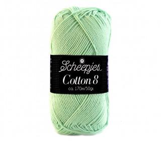 Strickgarn - Scheepjes Cotton 8 - 170m - Baumwolle - Pastell Grün (664)