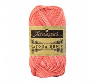 Strickgarn - Scheepjes Catona Denim - 125m - Baumwolle - Apricotrosa Meliert (130)