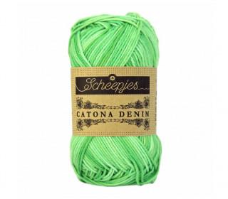 Strickgarn - Scheepjes Catona Denim - 125m - Baumwolle - Hellgrün Meliert (171)