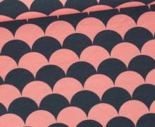 Jersey - Color Shell - Muscheln - Apricotrosa/Dunkelgrau