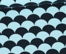 Jersey - Color Shell - Muscheln - Mintblau/Schwarz