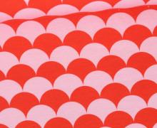 Jersey - Color Shell - Muscheln - Korallrot/Rosa