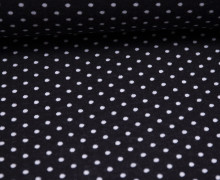 Jacquard Jersey - Simple Dots Small - Schwarz - Weiß