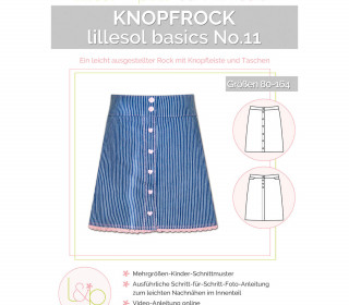 Schnittmuster - Knopfrock - No.11 - Kinder - 80-164 -  lillesol&pelle