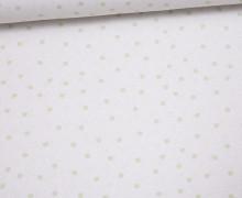 Jersey - Bio Qualität - Lovely little Dots - Pünktchen - Hellgrün - Ecru-  Abby and me