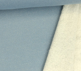 Seemannssweat - French Terry  - Glitzer - Metallic - Blaugrau/Silber