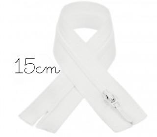 1x15cm Polyesterreißverschluss - Hosenverschluss - Nicht Teilbar - Hochwertig - Opti - Offwhite (0089)