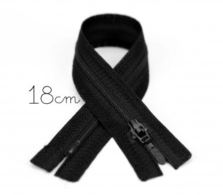 1x18cm Polyesterreißverschluss - Hosenverschluss - Nicht Teilbar - Hochwertig - Opti - Schwarz (0000)