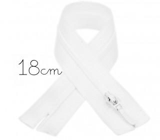 1x18cm Polyesterreißverschluss - Hosenverschluss - Nicht Teilbar - Hochwertig - Opti - Weiß (0009)