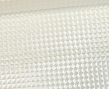 Kunstleder mit Struktur - Merlin - Nieten Optik - 3D - Glänzend - Perlmutt