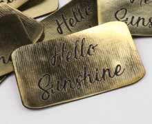 1 XXL KUNSTLEDER LABEL - Gold - Hello Sunshine