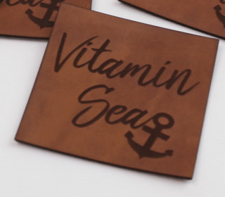 1 XXL KUNSTLEDER LABEL - Braun - Vitamin Sea