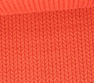Bio-Jacquard - 3D - Big Knit - Wanderlust - Orange - Hamburger Liebe