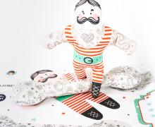Puppenstoff - DIY - Ivan der Starke - Zirkus - Gewichtheber - Anna Anjos - abby and me