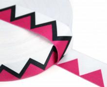 1m Gurtband - Deco - Zickzack - 35mm - Rosa/Aubergine