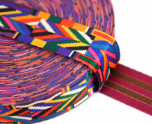 1m Gurtband - Deco - Pfeile - 35mm - Lila/Rosa