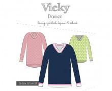 Papier-Schnittmuster - Pullover - Vicky - Damen - 32-58 - Fadenkäfer