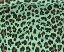 Musselin - Muslin - Double Gauze - Leo Print - Lichtgrün