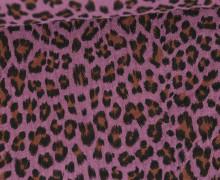 Musselin - Muslin - Double Gauze - Leo Print - Altrosa Dunkel
