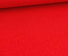 Viskose Leinen - Uni - 140cm - Leinenstoff - Rot
