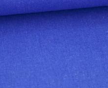 Viskose Leinen - Uni - 140cm - Leinenstoff - Royalblau