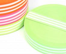 1 Meter Gummiband - 40mm - Three Stripes - Neongrün