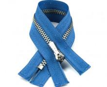 1 Reißverschluss - 10cm - Hochwertig - Metall - Prym - Taubenblau (235)