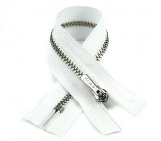 1 Reißverschluss - 10cm - Hochwertig - Metall - Prym - Weiß (009)