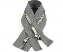 1 Reißverschluss - 16cm - Hochwertig - Metall - Prym - Grau (004)