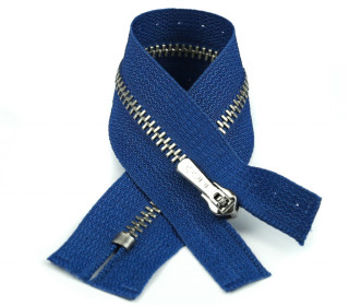 1 Reißverschluss - 16cm - Hochwertig - Metall - Prym - Blau (223)