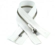 1 Reißverschluss - 16cm - Hochwertig - Metall - Prym - Weiß (009)